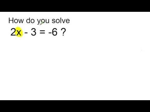 solve 2x 3 6 youtube