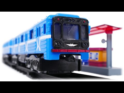 TRAINS FOR CHILDREN VIDEO: Train Metro Real Model Russian Moscow Metro, Second Toys Review