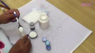 Pintura Em Tecido – Fundo Brilhante com Glitter – Dica da Márcia Spassapan