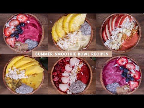 5 Thick Smoothie Bowl / Nice Cream Recipes (summer edition!) | JLINHH