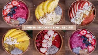 5 Thick Smoothie Bowl / Nice Cream Recipes (summer edition!) | JLINHH