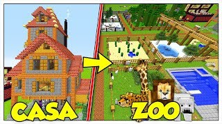 TRASFORMIAMO LA MIA CASA IN UNO ZOO! - Minecraft ITA