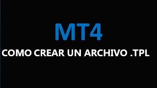 Como crear una plantilla o archivo .tpl