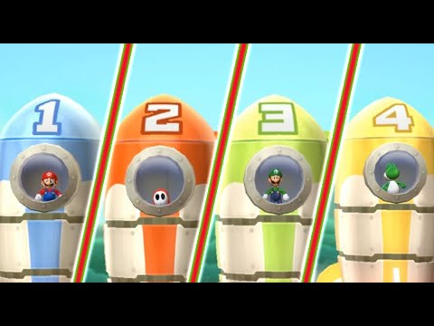 Mario Party 9: All Minigames - Mario Vs Shy Guy Vs Luigi Vs Yoshi (Maste...