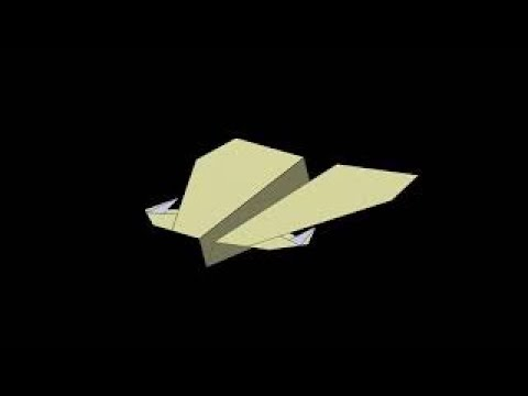 Falcon - Avion de papel fácil de hacer que vuela mucho y planea