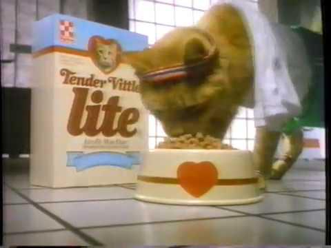 1989 Tender Vittles Lite Cat Food TV Commercial
