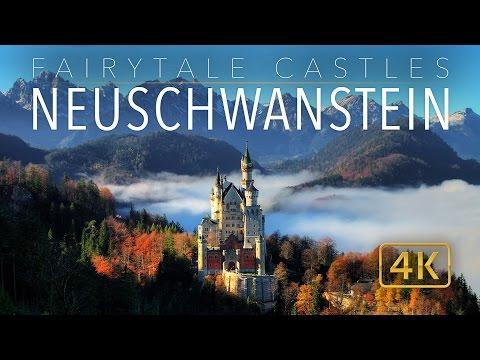 Neuschwanstein Castle 4K // Fairytale Castles of Europe // UHD Aerial Tour