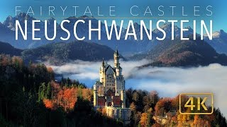 Neuschwanstein Castle 4K // Fairytale Castles of Europe // UHD Aerial Tour(Watch the original
