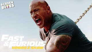 The Rock Going Head-To-Head with a HELICOPTER! | Helicopter VS. Trucks | Hobbs & Shaw | SceneScreen