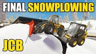FARMING SIMULATOR 2017 | SNOW PLOWING LOGGING ROADS | FINAL CLEAN UP