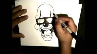 Como dibujar un payaso cholo -how to draw a clown in Speed Drawing   CLOWN #3