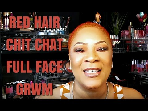 Red Hair | Chit Chat | Full Face GRWM