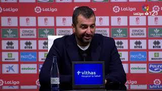 Rueda de prensa de Diego Martínez tras el Granada CF vs Albacete BP 1 1