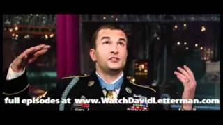 Staff Sgt. Salvatore Giunta in Late Show with David Letterman 2010-11-24