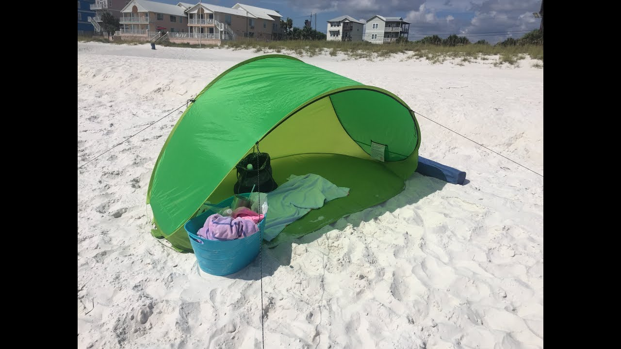 How To Fold Up The Crane Beach Pop Up Sun Shelter Funny Watch