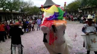 Torito de carnaval de huecorio mich. Visitando sta clara