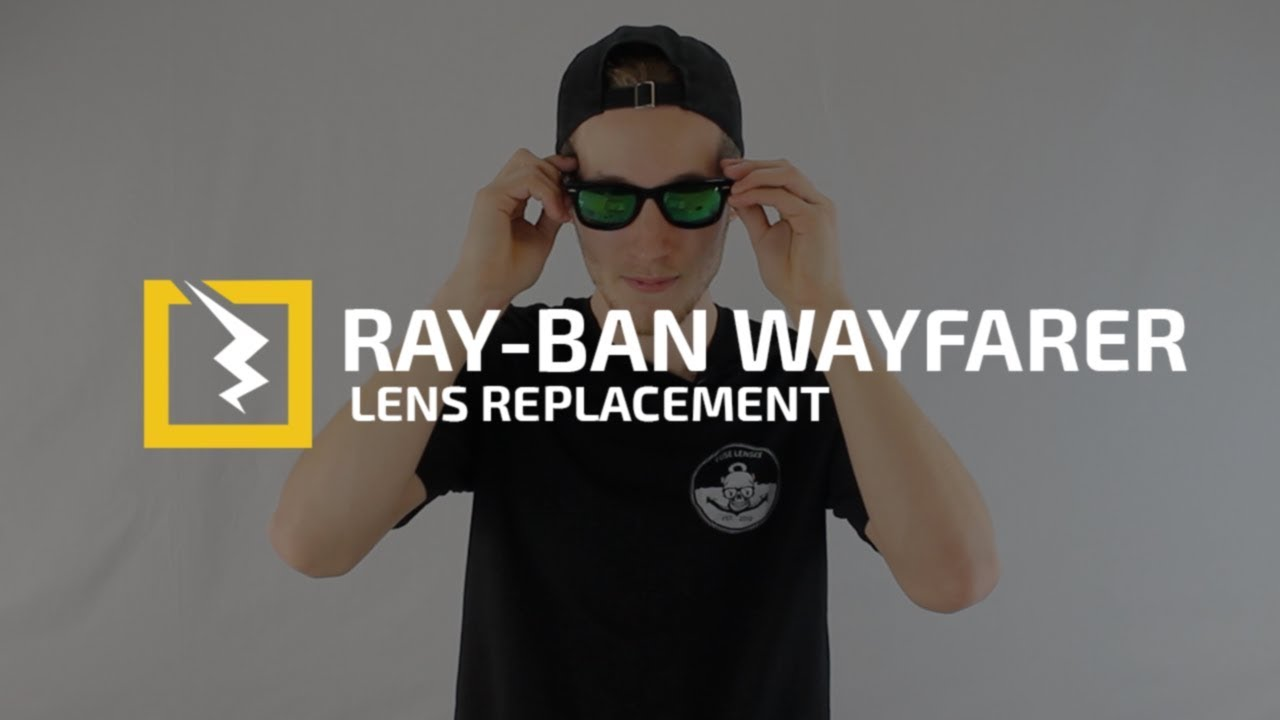 27b8dc01eb How to replace Hard to Get Out Glass Lenses in your Ray-Ban Original  Wayfarers. Fuse Lenses