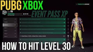 PUBG Xbox: Fastest Way to Reach Level 30 (Event Pass)