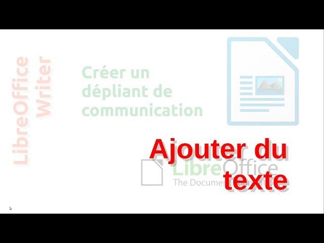 Un dépliant de communication avec LibreOffice Writer #8