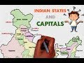 INDIAN STATES AND CAPITALS - explained on map of India easy to learn