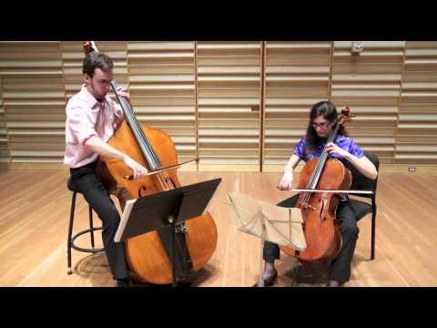 Rossini Duo for Cello and Double Bass, Mvmt. 1, Natasha Farny ...