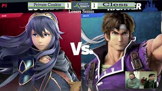 BHZ #1- Private Cookie (Donkey Kong, Lucina) v Cless (Cloud, Richter)