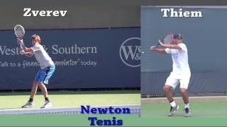 Newton Tenis -  Forehand - Thiem vc Zverev