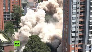 Colombia derriba el edificio Mónaco, un símbolo del narco y la fortaleza de Pablo Escobar