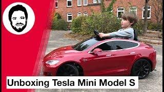 Unboxing Tesla Mini Model S für Kinder