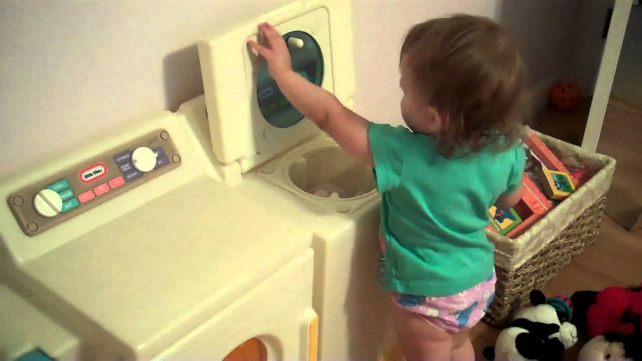 washing and drying - little tikes style - youtube