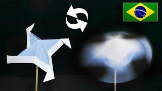 Origami: Hélice / Catavento - Instruções em Português BR
