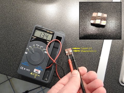 How To Make A Mini Super Powerful - Tap Water Battery
