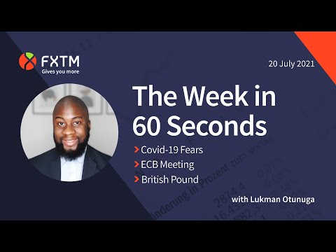 Covid-19 concerns, ECB meeting & Pound in focus - The week in 60 seconds | FXTM | 20/07/2021