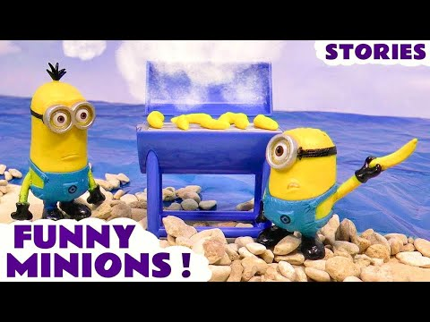 Minions Funny Pranks Thomas & Friends Play Doh Stop Motion Surprise Eggs and Toy Trains Juguetes