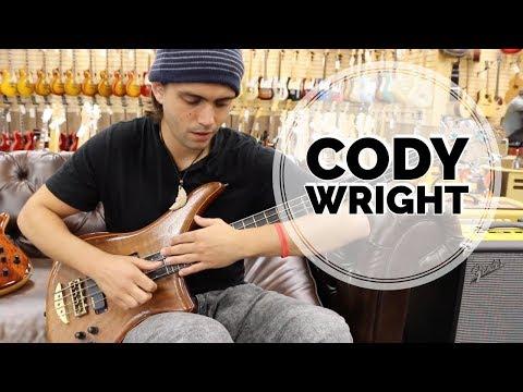 Cody Wright playing a Alembic Bass at Norman's Rare Guitars