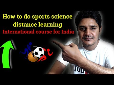 How To Do Sports Science Distance Learning International Course From  India