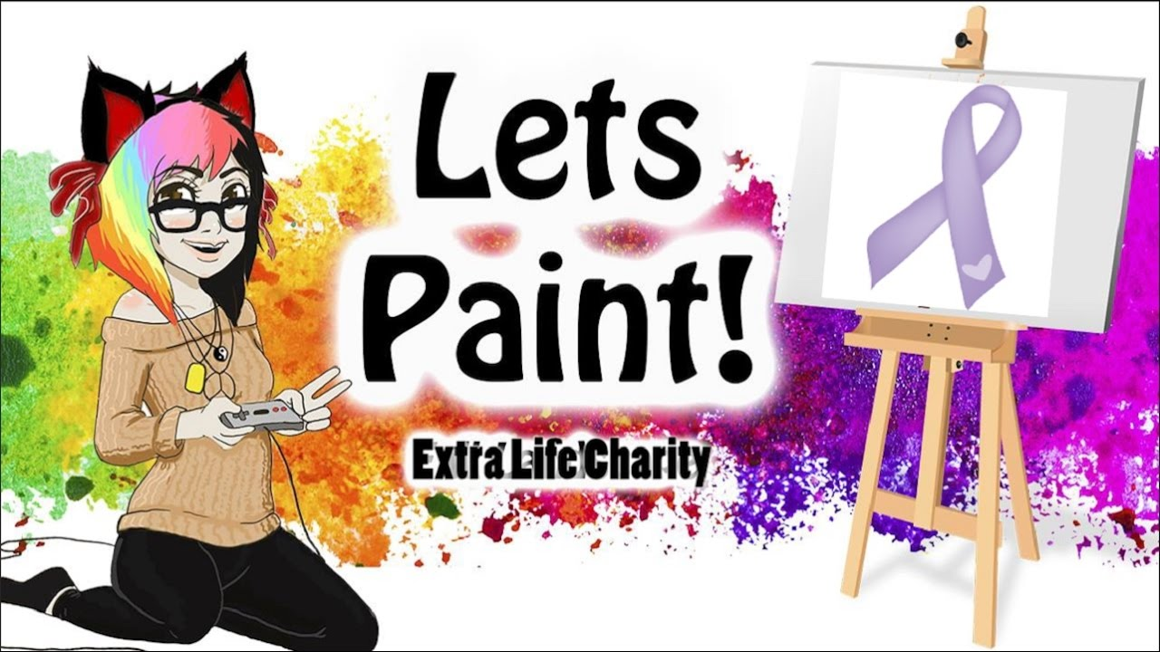 EXTRA LIFE CHARITY ♥Lavender Ribbon♥ WaterColors! -Live Stream! (Chill here :D)