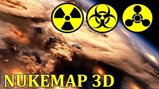Cимулятор ядерного оружия - NUKEMAP3D - [США против России]
