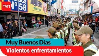 Violentos enfrentamientos entre vendedores ambulantes y Carabineros | Muy buenos días