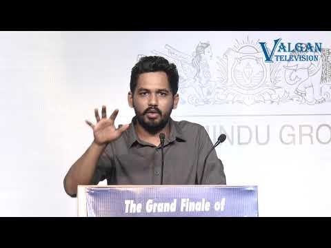 Hiphop Tamizha Motivational Speech to youngsters at Sri Sairam Engineering College | Vettri Nichayam