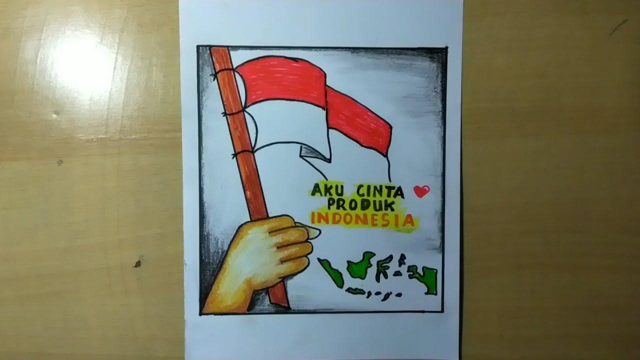 Cara Membuat Poster Cinta Produk Indonesia Youtube