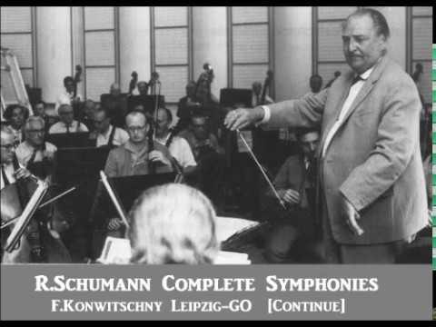 R.Schumann Complete Symphonies [ F.Konwitschny Leipzig-GO ] (1960~1)