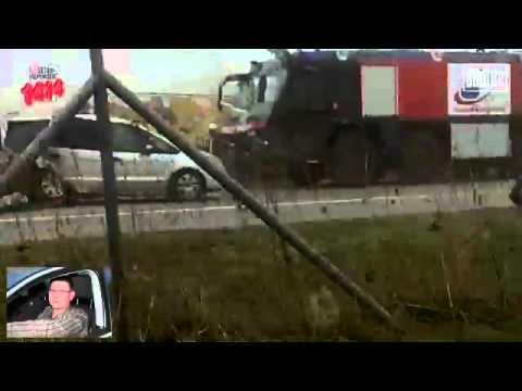 Horrorcrash/Unfall in Rostock auf der Autobahn A19 (Video 2011)