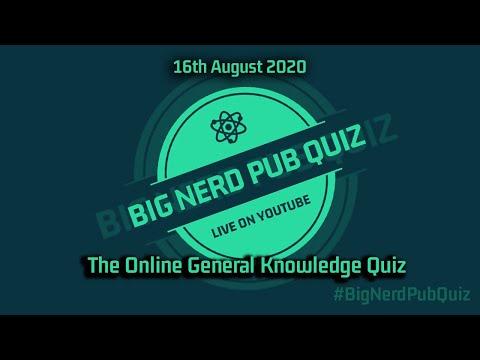 The Big Nerd Pub Quiz 16.08.2020