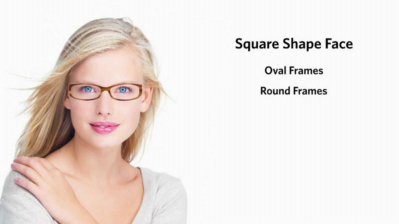 Frames for a Square Face Shape - Female - YouTube