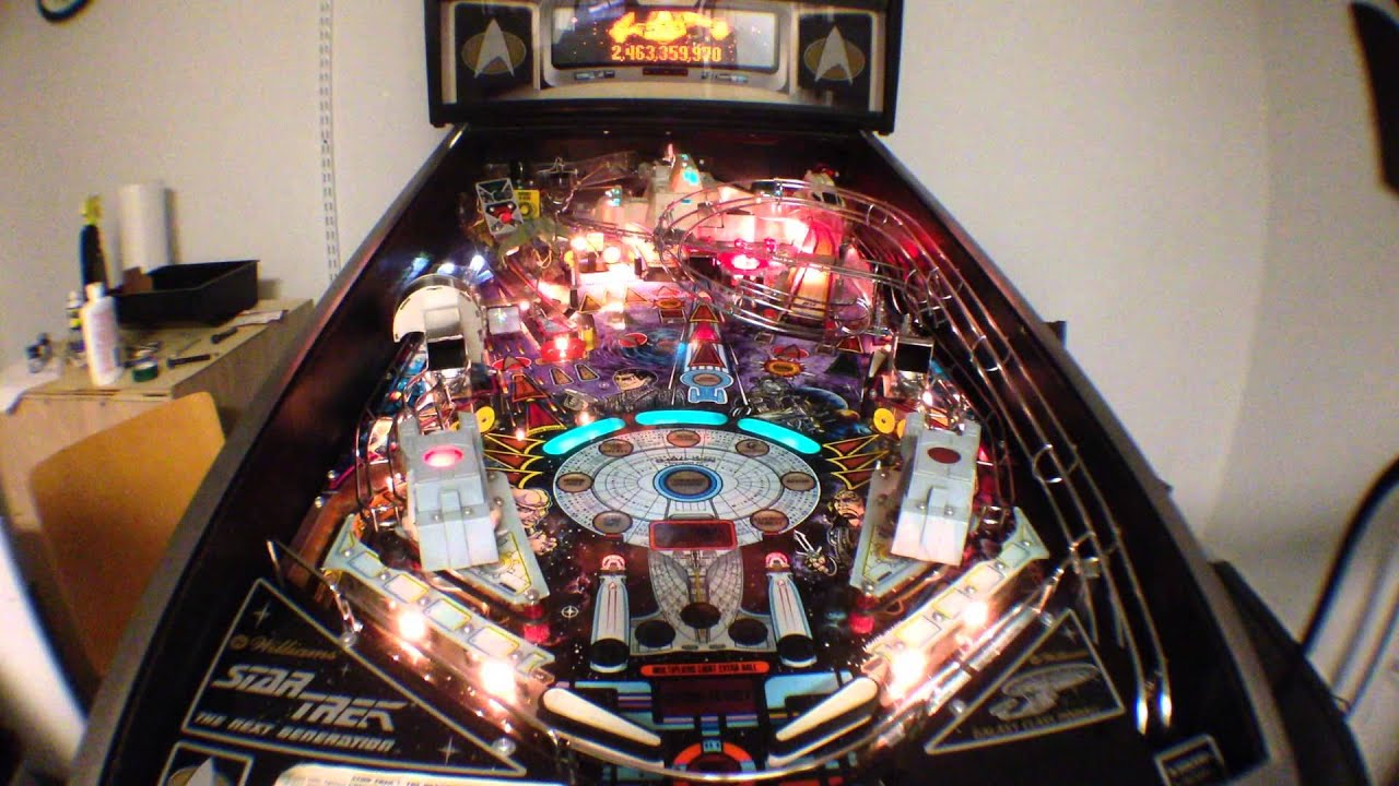 Star Wars Pinball Machine >> 1993 Williams Star Trek: The Next Generation Pinball - YouTube