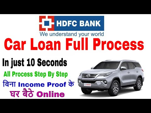 Hdfc Bank Car Loan Full Details With Live Process