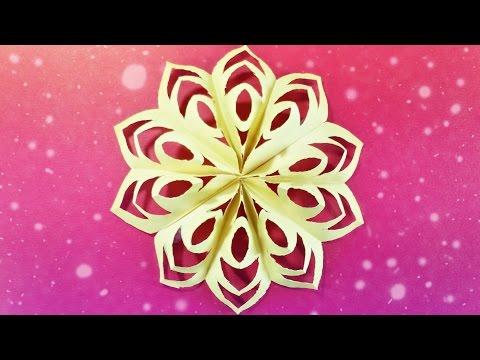 Modular 3d Origami Snowflake Tutorial Easy Instructions Star Christmas Diy 3d Paper Snow