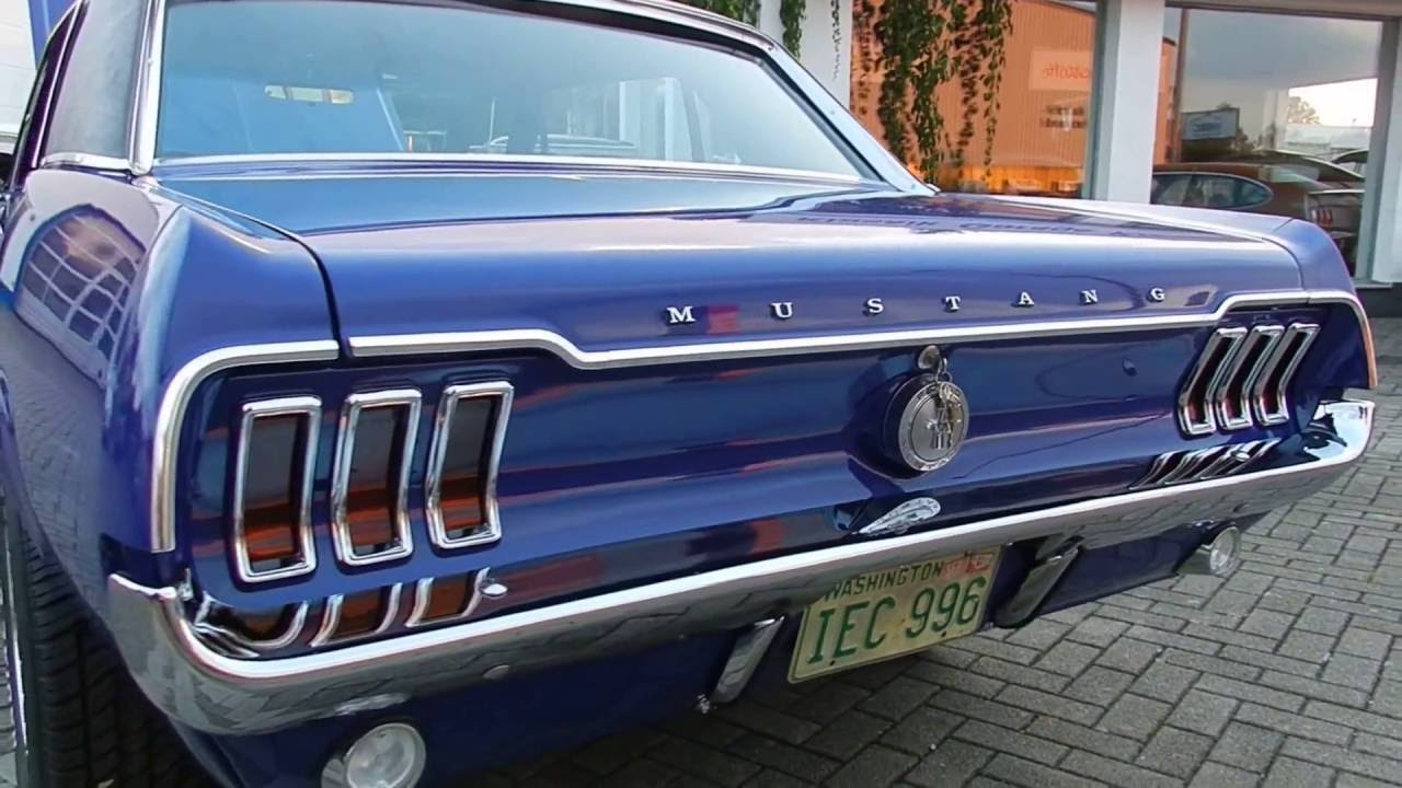 1968 ford mustang v8 coup mit vinyl dach youtube. Black Bedroom Furniture Sets. Home Design Ideas