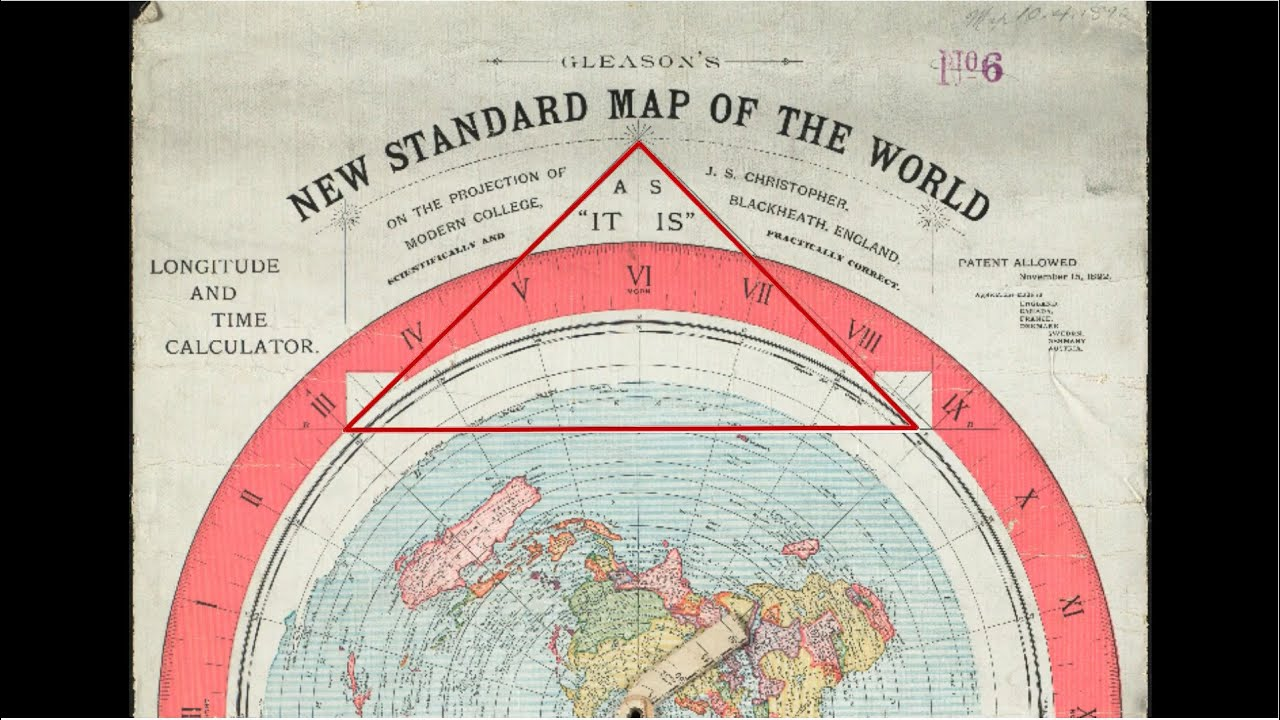 Gleason flat earth map triangle youtube gumiabroncs Choice Image